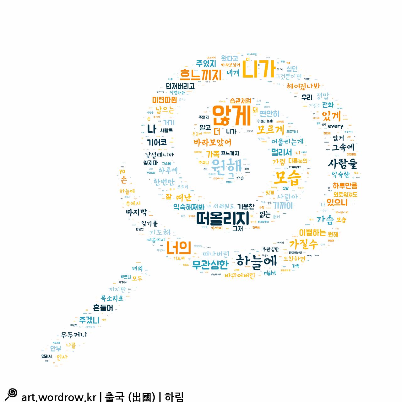 워드 클라우드: 출국 (出國) [하림]-6